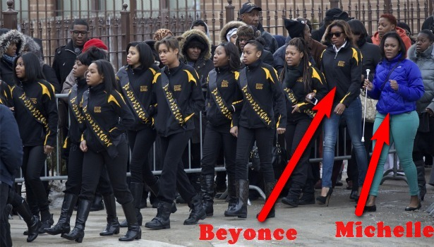 Beyonce and Mooch attend sad funeral.